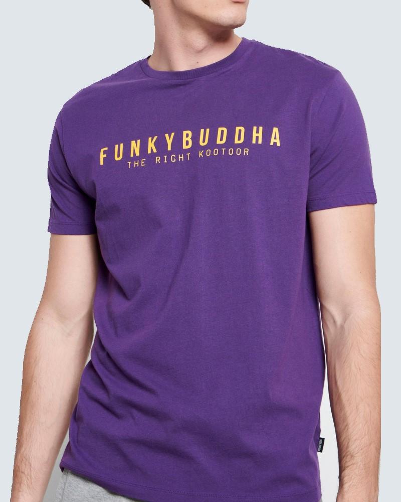 FUNKYBUDDHA T-SHIRT LOGO BASIC - PURPLE
