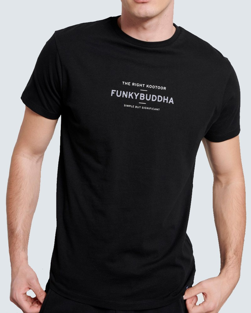 T-SHIRT BASIC LOGO FUNKYBUDDHA - BLACK