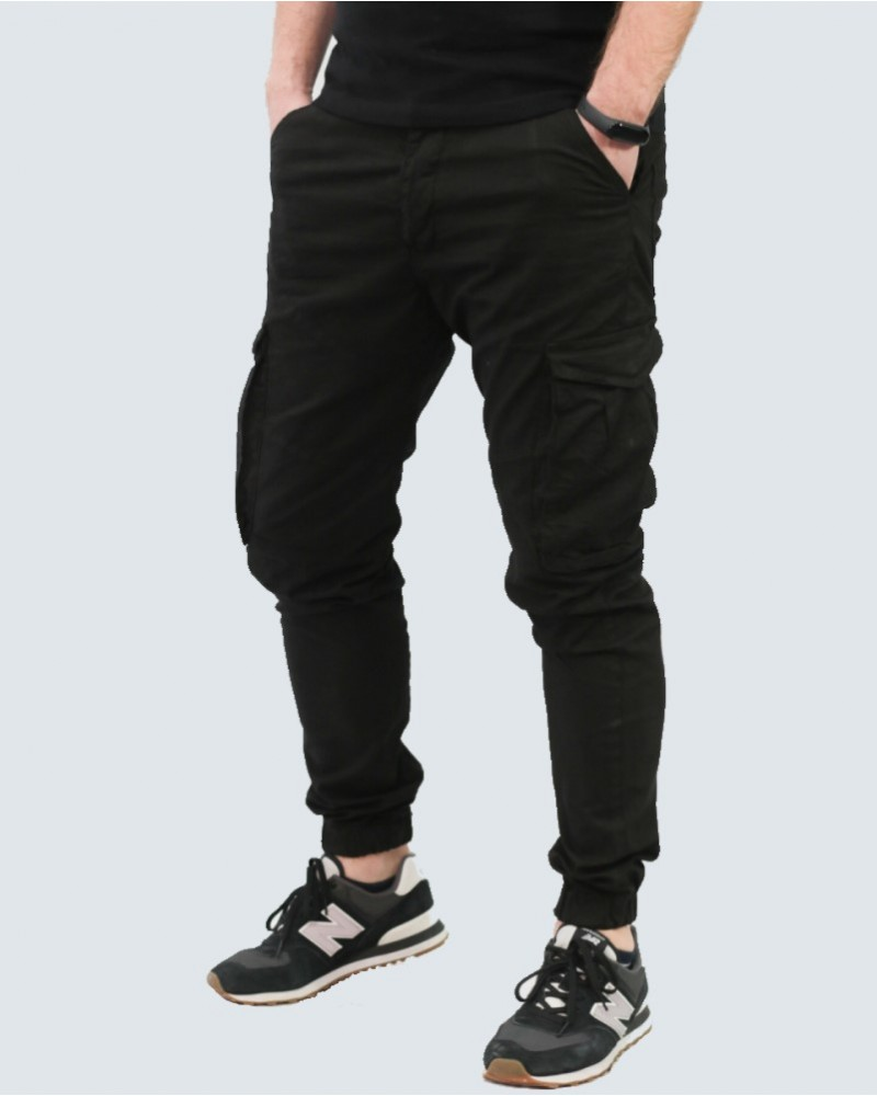 BACK2JEAN ΠΑΝΤΕΛΟΝΙ CARGO ARMY FIT - BLACK