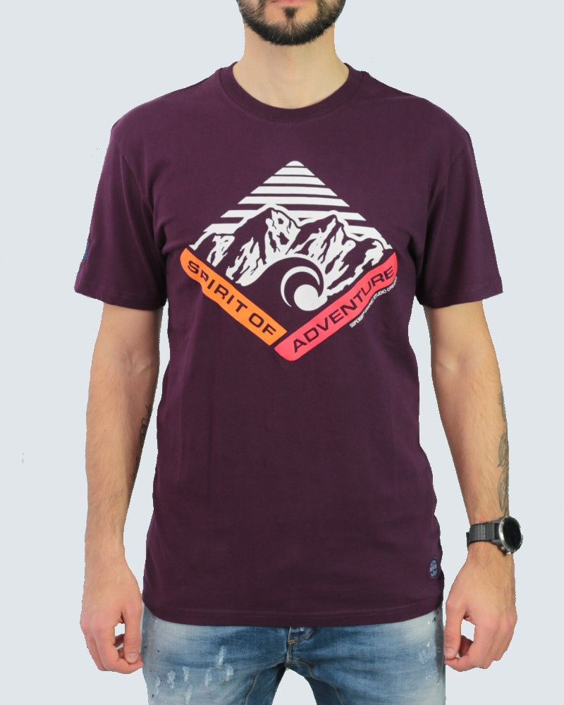 SUPERDRY T-SHIRT MOUNTAIN RELAXED FIT GRAPHIC - ΜΠΟΡΝΤΩ
