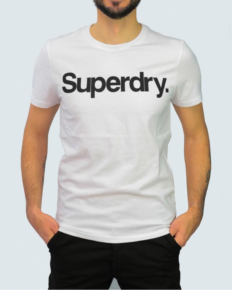 SUPERDRY T- SHIRT LOGO - WHITE