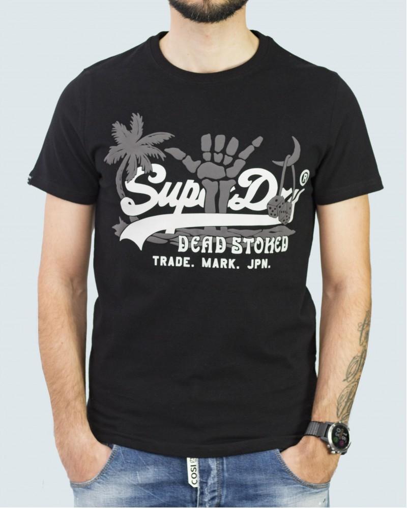 SUPERDRY T- SHIRT  VINTAGE LOGO - BLACK