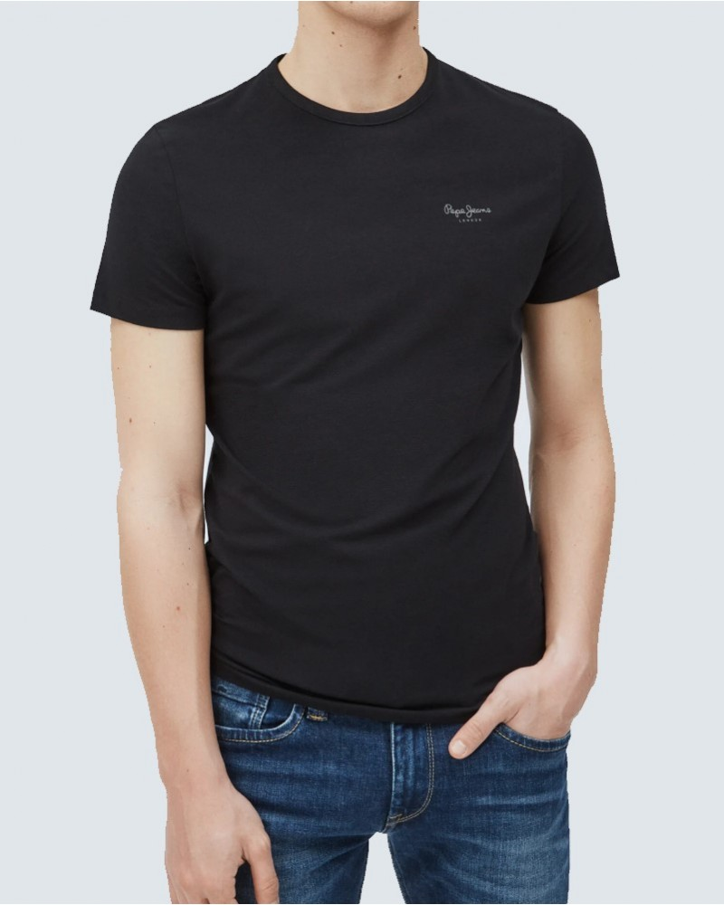 PEPE JEANS T-SHIRT BASIC - BLACK