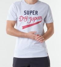 SUPERDRY T- SHIRT  COLLEGIATE GRAPHIC - LT GREY