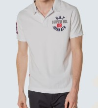 POLO SUPERDRY CLASSIC SUPERSTATE- WHITE