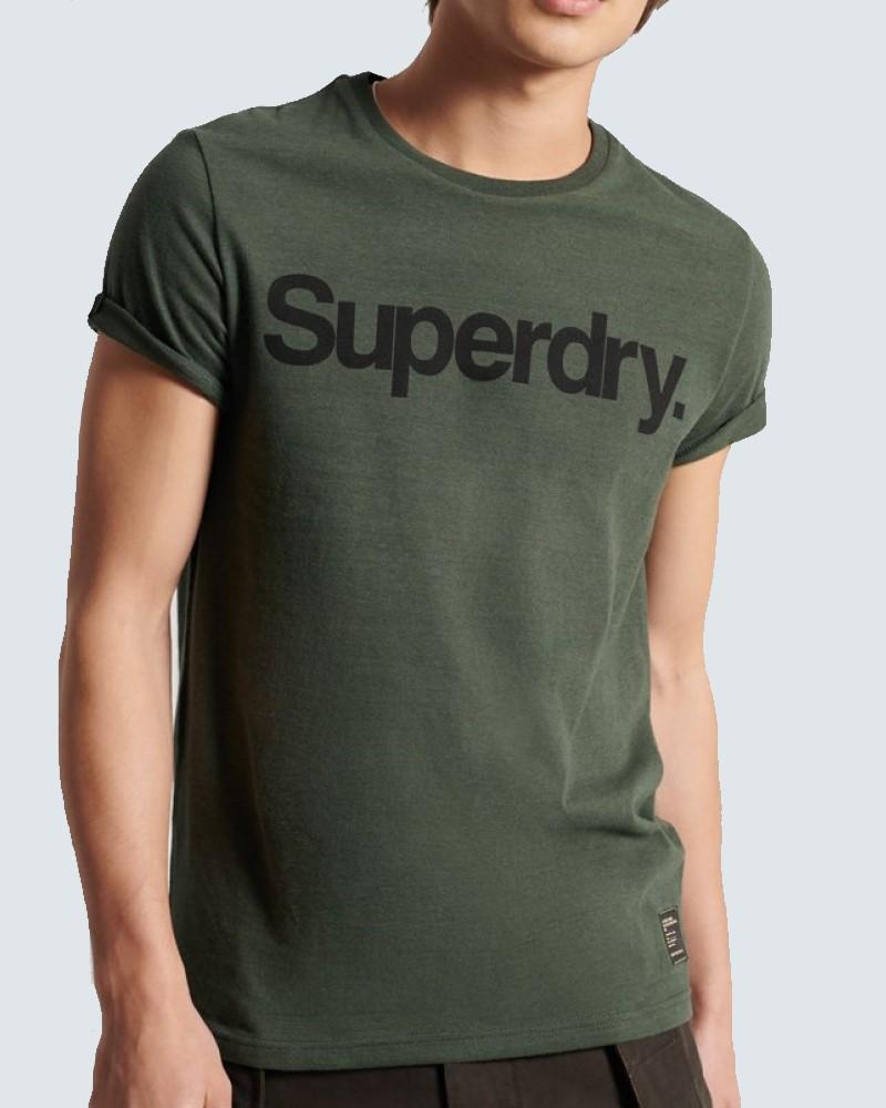 SUPERDRY T- SHIRT LOGO - DARK GREEN