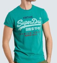SUPERDRY T- SHIRT  VINTAGE LOGO - OCEAN GREEN