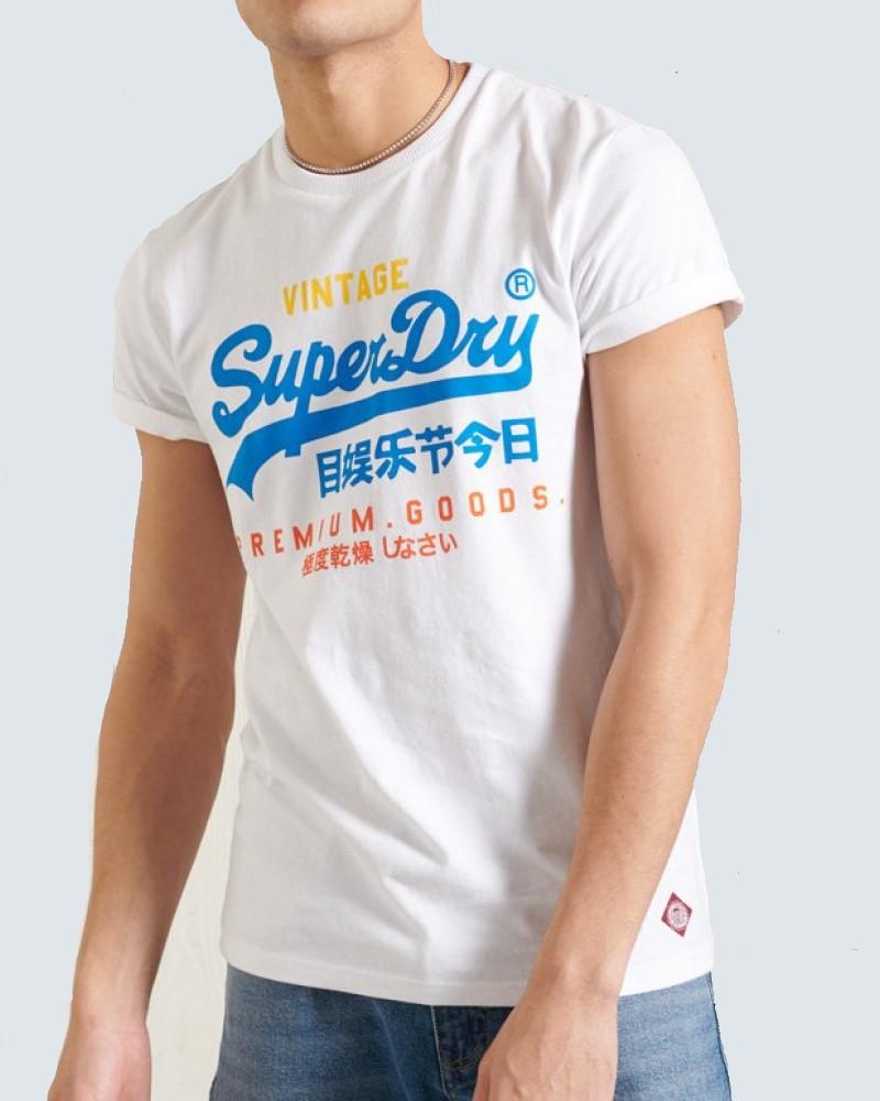 SUPERDRY T- SHIRT  VINTAGE LOGO - WHITE