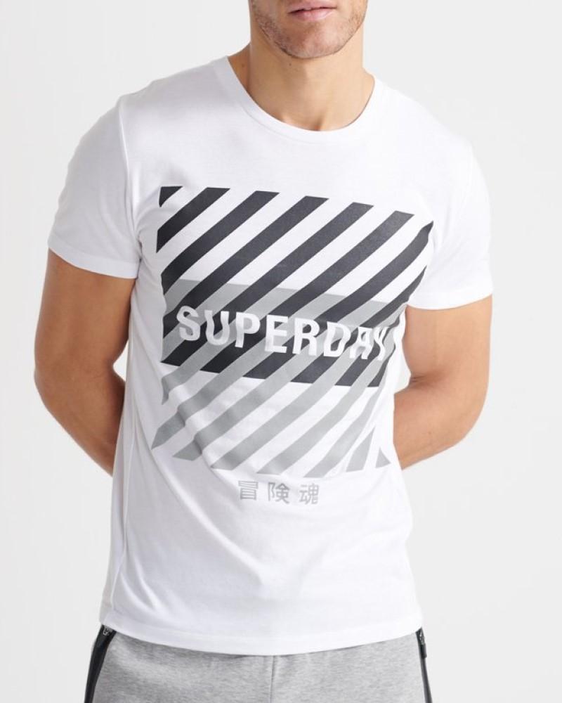SUPERDRY TRAINING CORESPORT T-SHIRT - WHITE