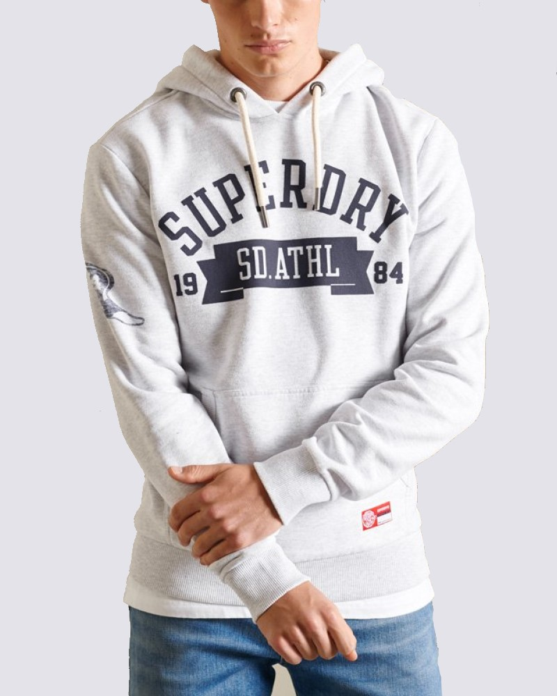 SUPERDRY TRACK & FIELD HOODIE -OFF WHITE