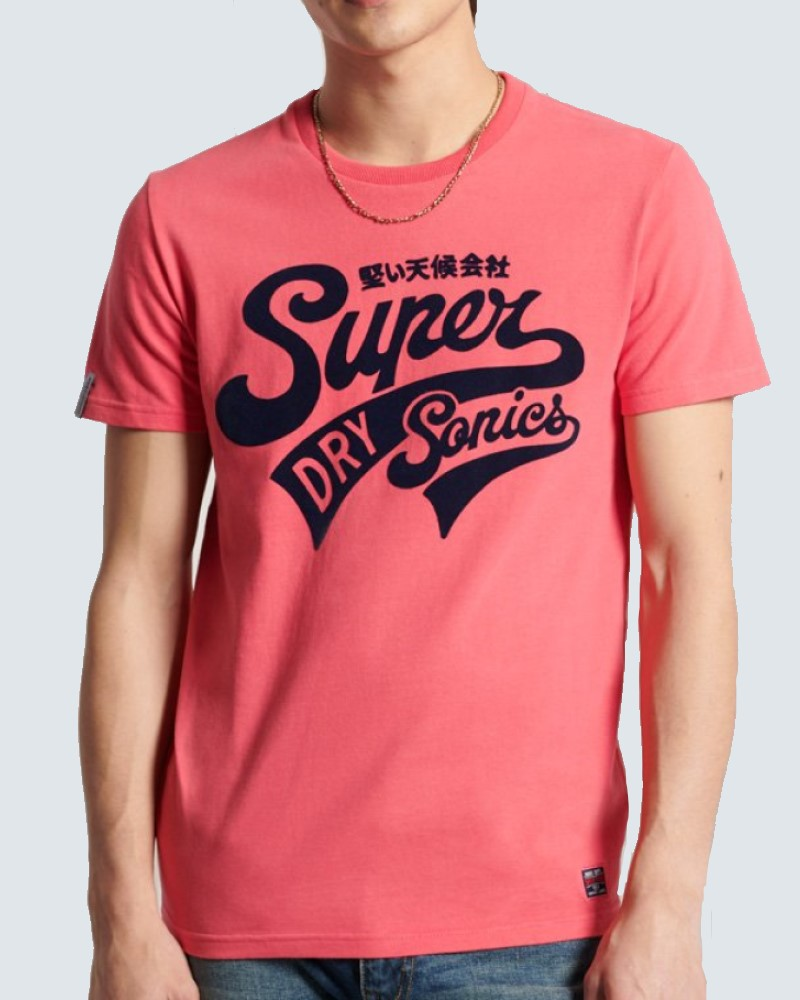 SUPERDRY T- SHIRT  COLLEGIATE GRAPHIC -FUCHSIA
