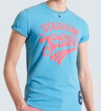 SUPERDRY T- SHIRT  COLLEGIATE GRAPHIC -OCEAN BLUE