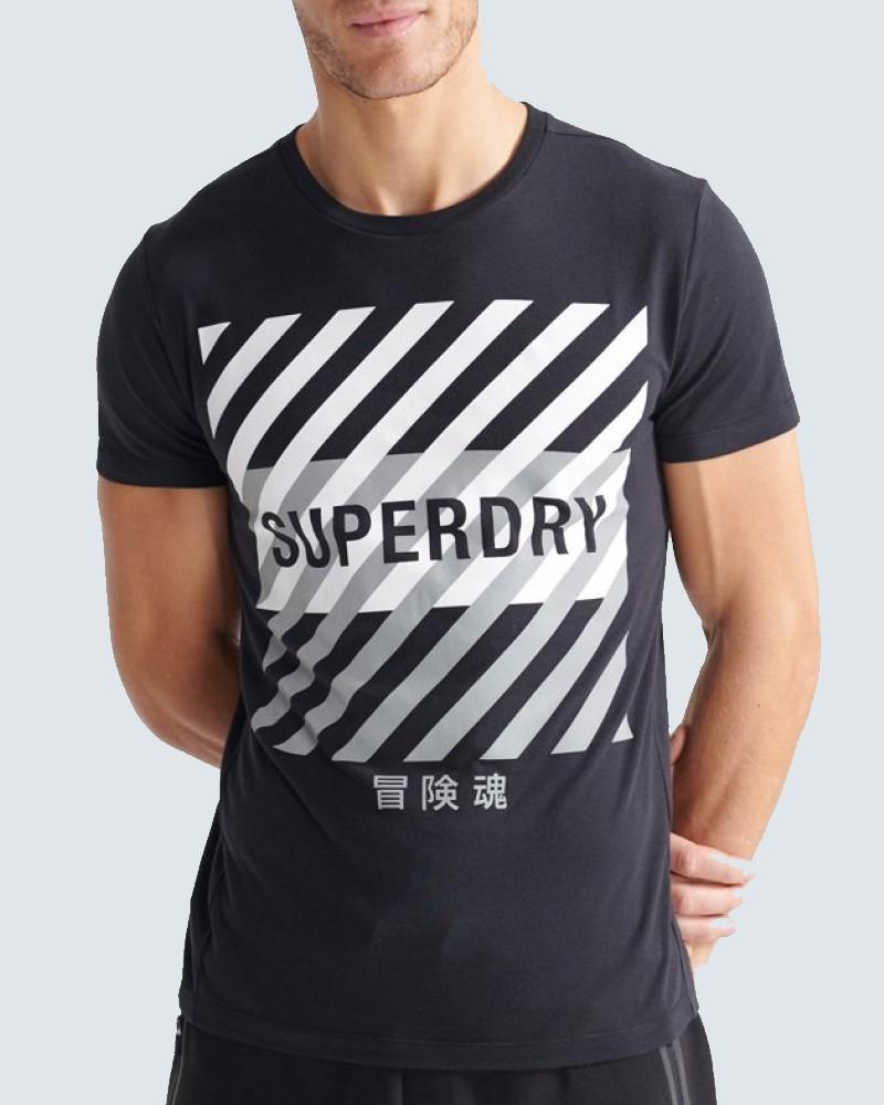 SUPERDRY TRAINING CORESPORT T-SHIRT - BLACK